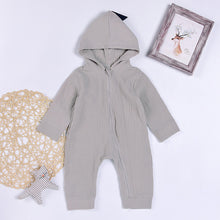 Dinosaur Style Hooded Long-sleeve Baby Jumpsuit