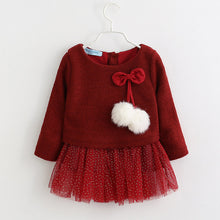 Winter Bow Princess Dress
