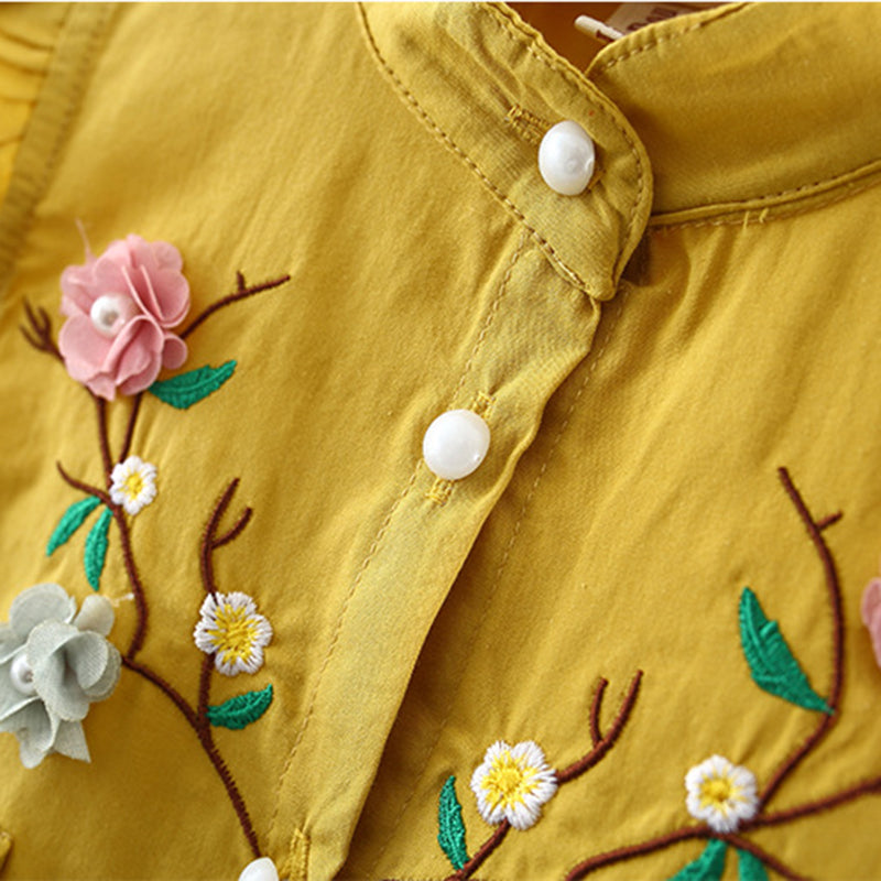 Flowers Embroidery Dress