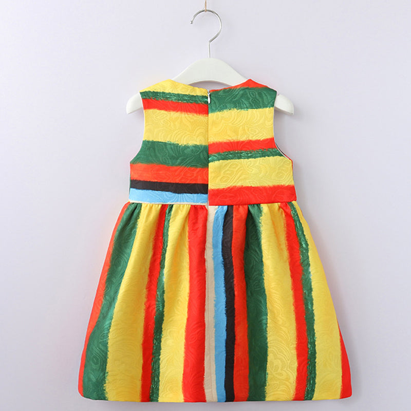 Colorful Strips Dress