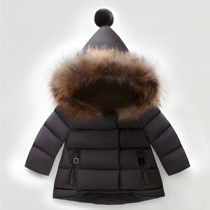 Fur Hooded Coat
