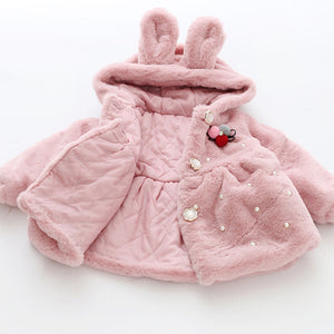 Rabbit Hooded Coat