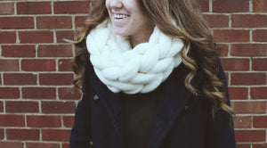 LEARN & TAKE: Hand Knitted Infinity Scarf