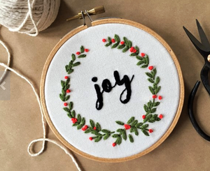 Modern Embroidery Holiday Ornaments