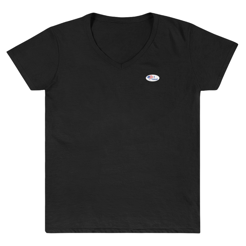 """I Voted"" Women's Casual V-Neck Shirt"