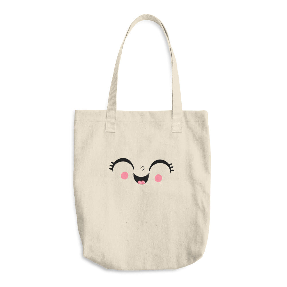 Just Laugh Cotton Tote Bag - Donna Adi