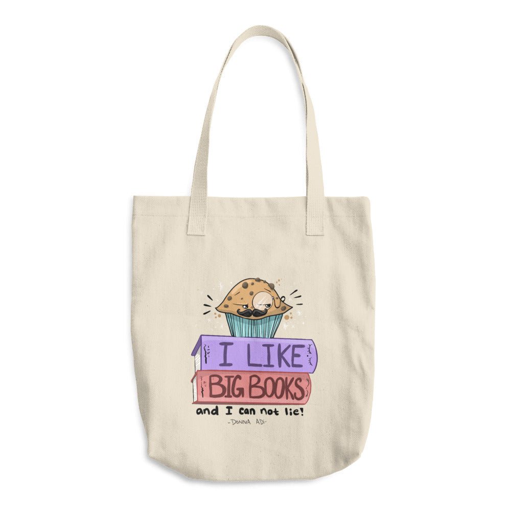 I Like Big Books Cotton Tote Bag - Donna Adi