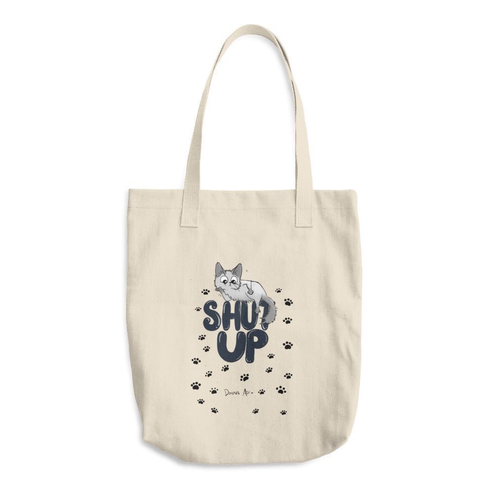 Shut Up Cotton Tote Bag - Donna Adi