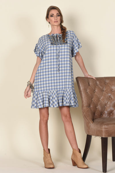 "Emily Easy Dress, ""Palaka"" Plaid"