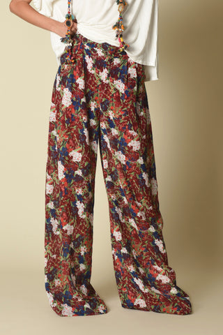 Blayze Wide-Leg Pants, Watercolor Floral
