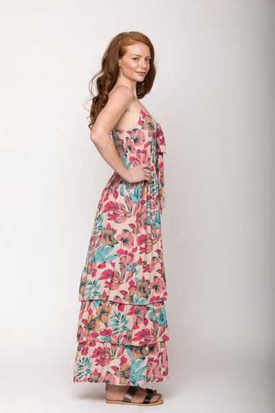 Kaile Tropical Floral Convertible Dress