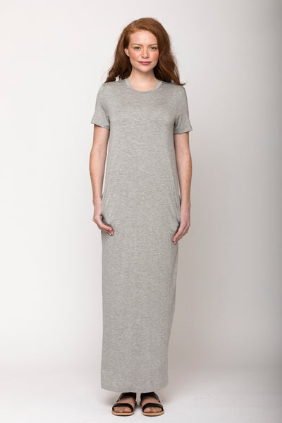 Madison Column Dress, Heather Grey
