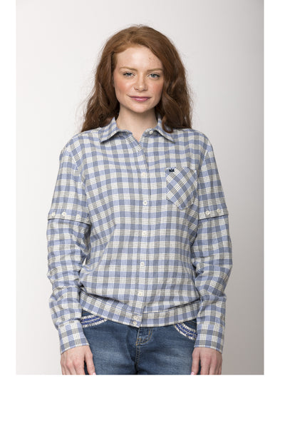 "Cassidy 2-way Convertible Shirt, ""Palaka"" Plaid"