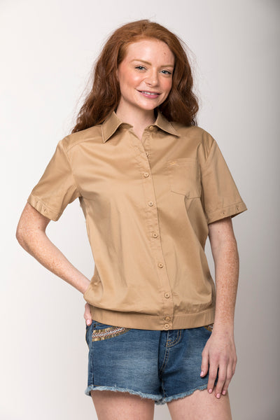 Cassidy 2-way Convertible Shirt, Solid