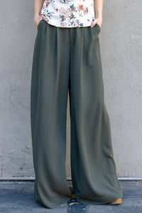 Blayze Wide-Leg Pants, Olive