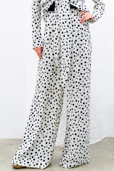 Blayze Wide-Leg Pants, Dots