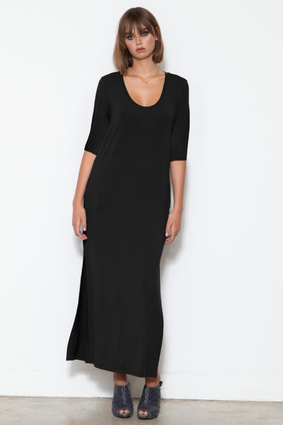 Camryn Scoop-neck Column Dress, Black