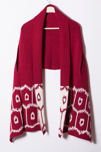 Frankie Shawl Shrug, Geo Ikat Border