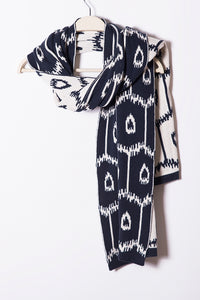 Mercedes Shawl Shrug, Allover Geo Ikat