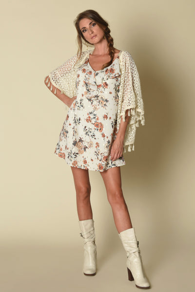 Evelyn Ruffle Cami Tunic Dress, Urban Floral