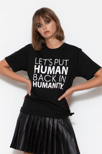 Humanity T-shirt, Black