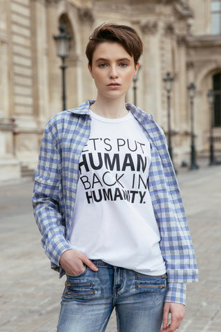 Humanity T-shirt, White