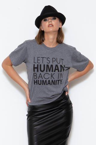 Humanity T-shirt, H. Grey
