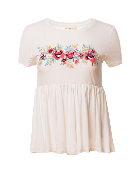Evie Tropical Floral Babydoll Top