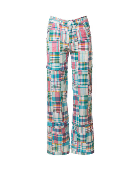 Chris Patchwork Plaid Convertible Pants