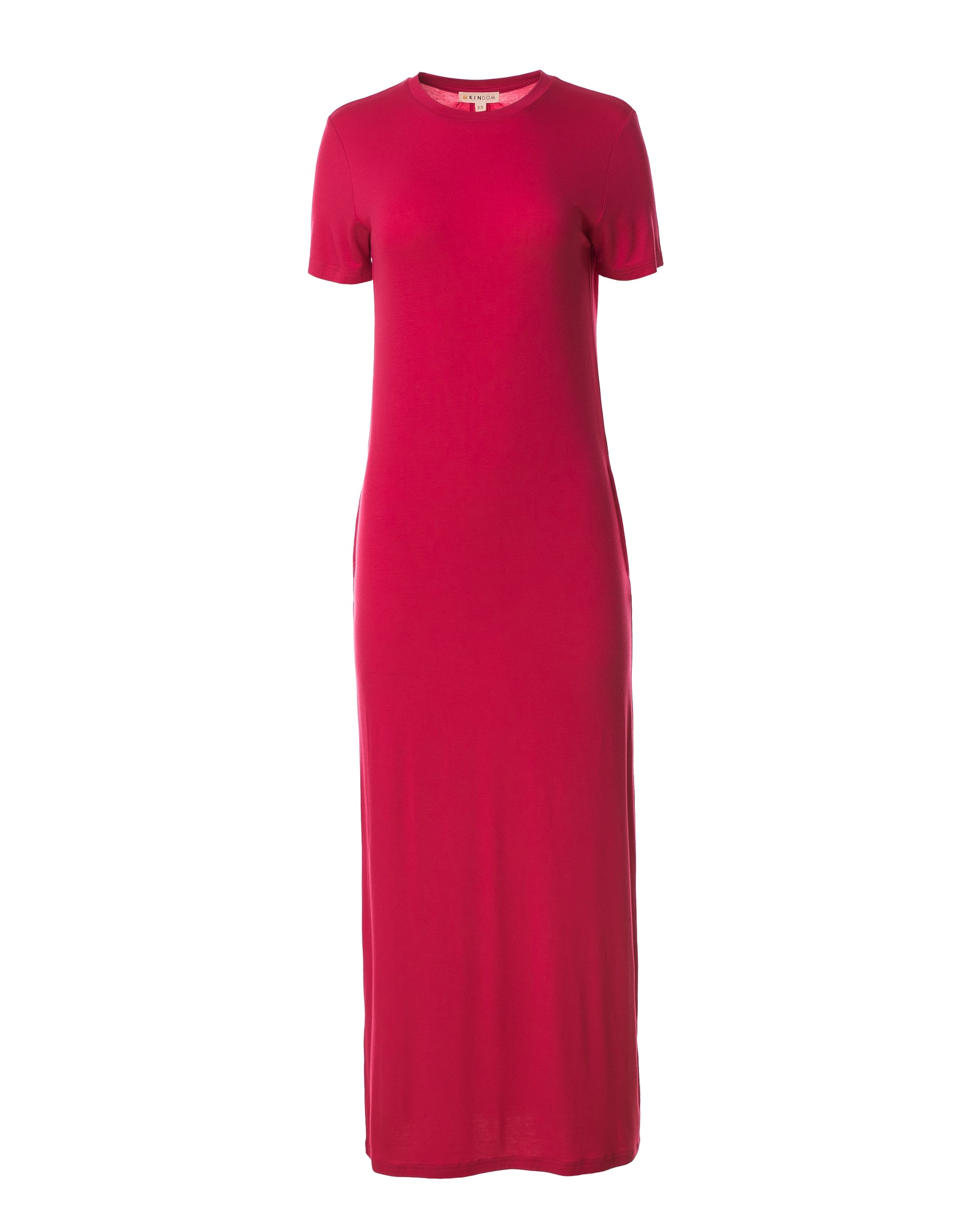 Madison Column Dress, Magenta