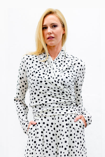 Livia 4-way Convertible Top/Cardi, Dots