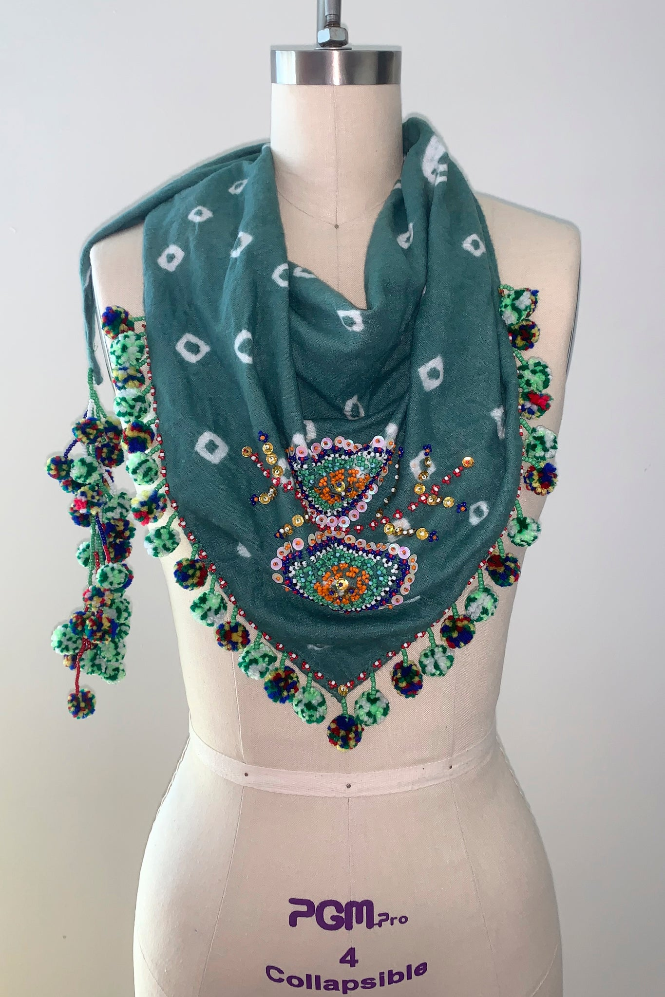 Magani Tangkulo Scarf (indigenous), Forest-Opal