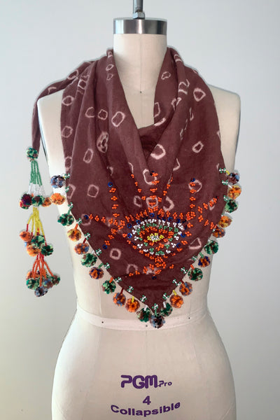 Magani Tangkulo Scarf (indigenous), Mahogany-Orange
