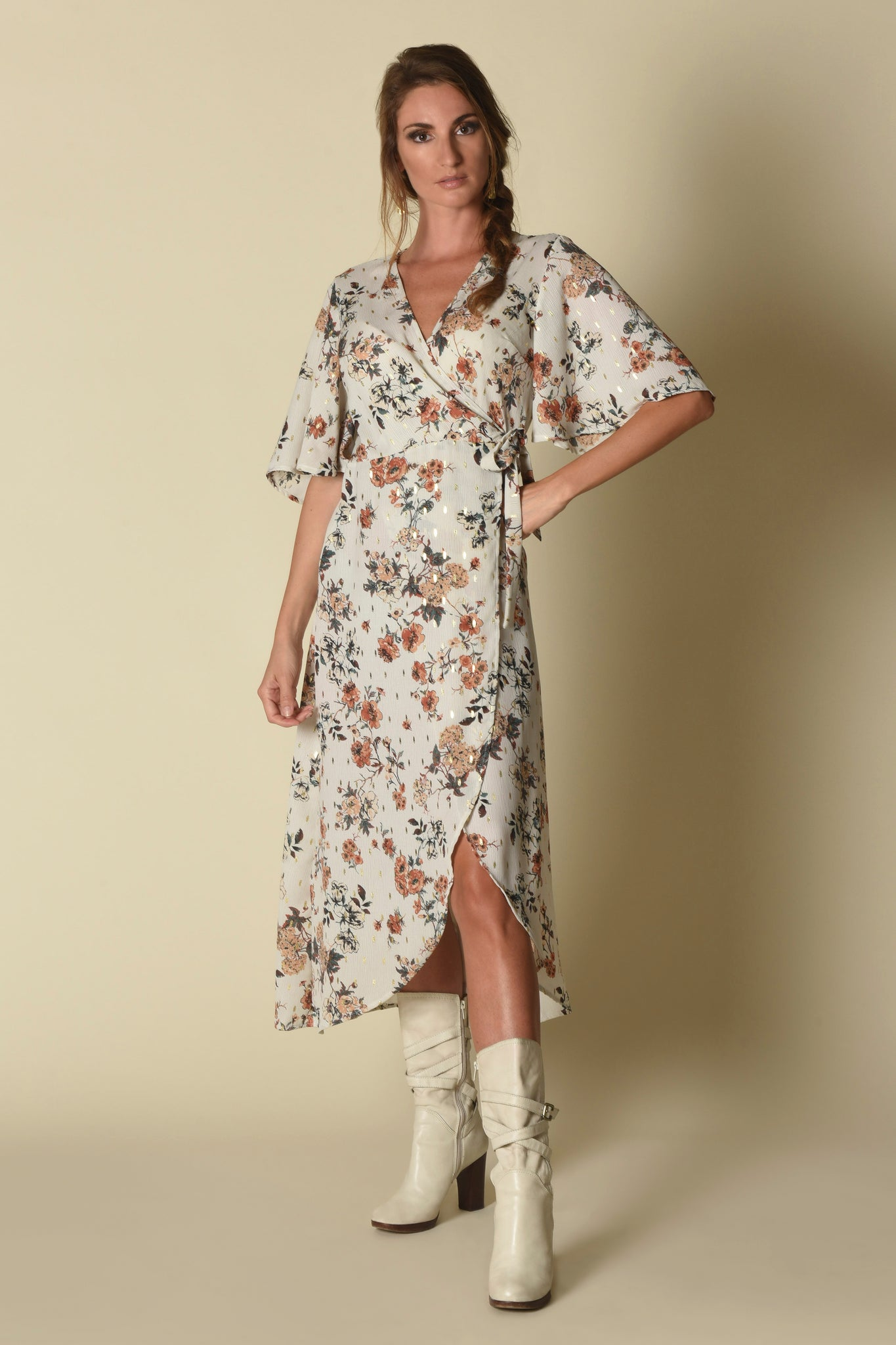 Maria Wrap Dress, Urban Floral