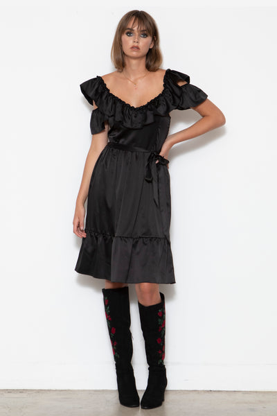 Mercy 3-way Convertible Dress, Black