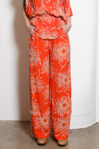 Riley Convertible Wide-Leg Side Stripe Pants, Mum Floral