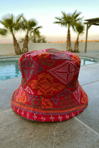 Yakan Handwoven Bucket Hat, 014 Red/Multi