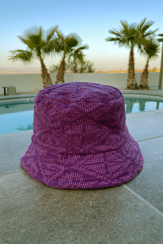 Yakan Handwoven Bucket Hat, 028 Purple/Pink
