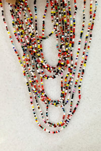 Yegas I Tribal Beaded Necklace, Multi