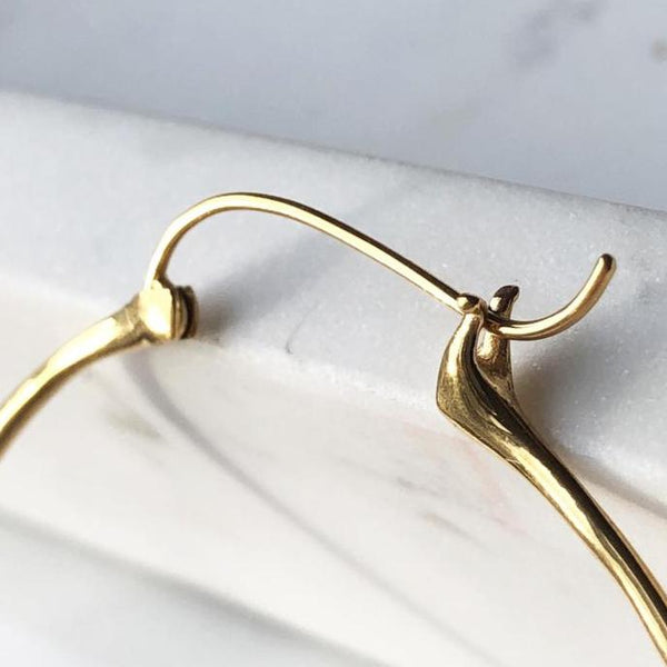 Corazon Hoop Earrings- 18k Gold - ASTOR + ORION ethically made jewelry
