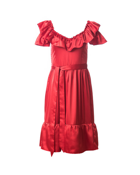 Mercy 3-way Convertible Dress, Red