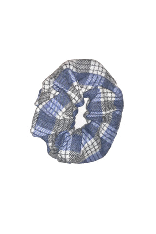 Scrunchie from Scraps, Blue/Grey Organic Cotton