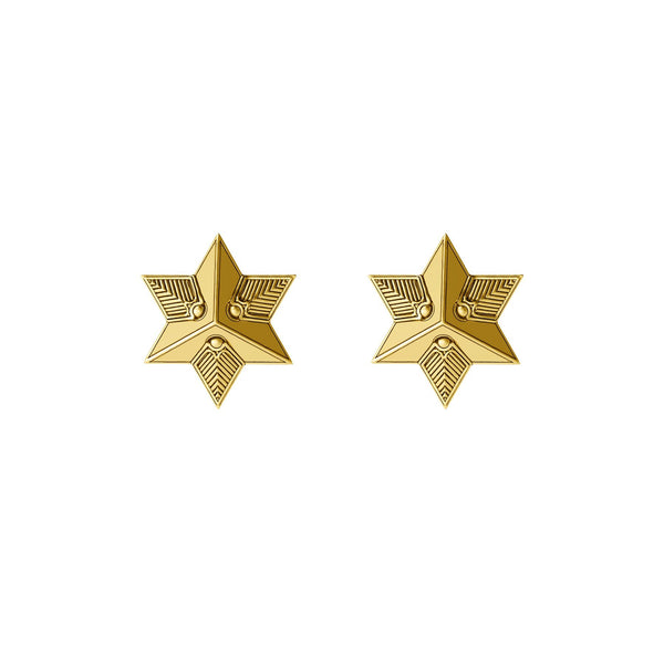 Star Stud Earrings- 18k Gold - ASTOR + ORION ethically made jewelry