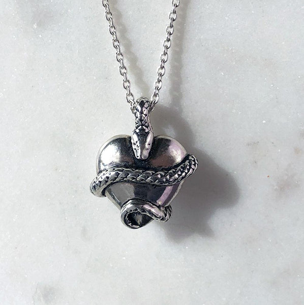 Wise Heart Silver Charm Necklace - ASTOR + ORION ethically made jewelry