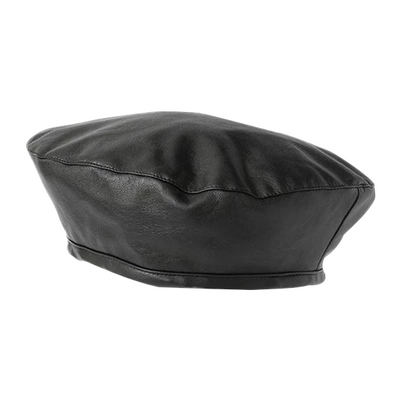 Ines Faux Leather Beret, Women's Accessories, BEL EPOQ