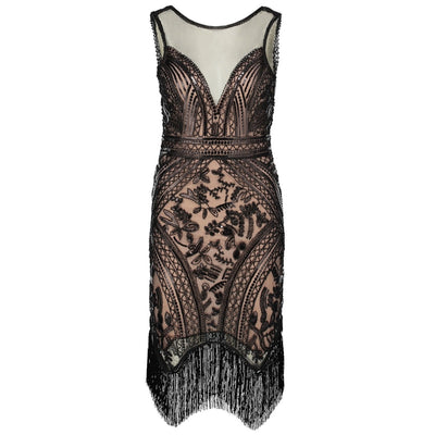 Ivy Roaring '20s Flapper Fringe Dress, Women's Dresses, BEL EPOQ