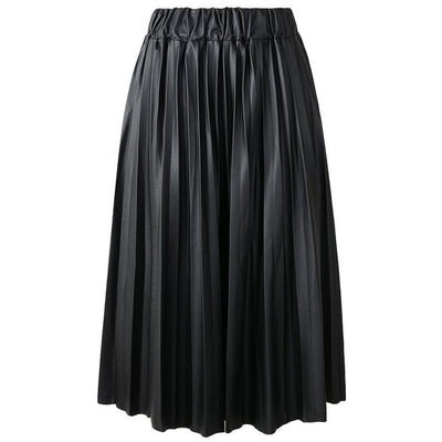 Eve Faux Leather Pleated A-Line Skirt, Women's Skirts, BEL EPOQ