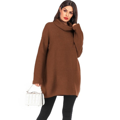 Nathalie Oversized Turtleneck Knit Sweater, Women's Tops, BEL EPOQ