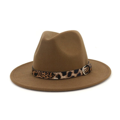 Joanne Leopard Band Fedora Hat, Women's Accessories, BEL EPOQ