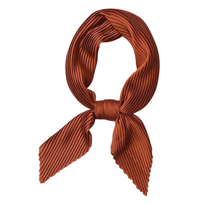 Gia Satin Italian Pleated Square Scarf